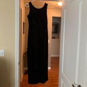 Long velvet flower dress